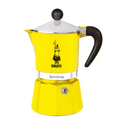 Cafeteira Bialetti Raibown 3 Xic Amarelo - NOSTRO SOLO
