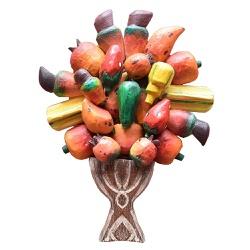 Painel Pequeno de Ânfora com Frutas Variadas - DB... - OFICINADEAGOSTO