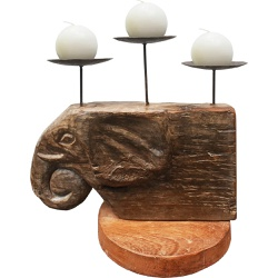 Castiçal Cabeça de Elefante 2 - 2010000005330 - OFICINADEAGOSTO