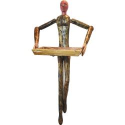 Escultura de parede - Boneco com Bandeja - MG2021... - OFICINADEAGOSTO