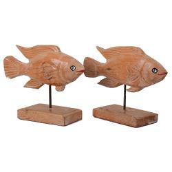 Escultura de Peixe na Base - 2100002016752 - OFICINADEAGOSTO