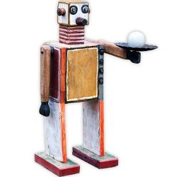 Escultura Média de Robô - MG202125 - OFICINADEAGOSTO