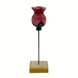 Escultura de Tulipa na Base - 2100002017179 - OFICINADEAGOSTO
