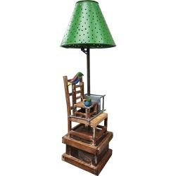 Abajur Cadeiras 1 - Coleção 'Cadeiras Entrelaçadas... - OFICINADEAGOSTO