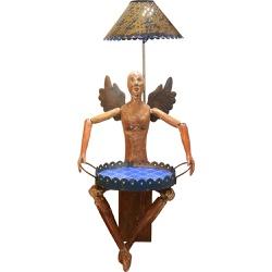 Luminária de Escultura Boneco Anjo com Bandeja 1 -... - OFICINADEAGOSTO