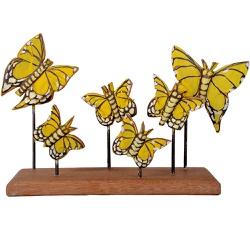 Escultura de Borboletas na Base - 2100002016790 - OFICINADEAGOSTO