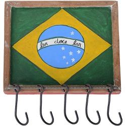 Porta Chaves Bandeira do Brasil - 2010000000540 - OFICINADEAGOSTO
