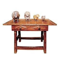 Mesa Antiga com Ornamento em Losango - MG0453 - OFICINADEAGOSTO