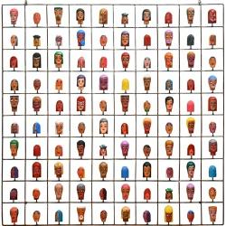 Painel Grade de Carinhas com 100 pçs. - 2010000005... - OFICINADEAGOSTO