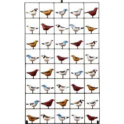 Painel Grade de Pássaros 40 pçs. - 2010000006122 - OFICINADEAGOSTO