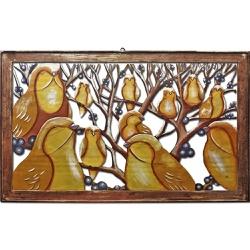 Quadro Vazado Grande de Pássaros Amarelos - DBV627... - OFICINADEAGOSTO
