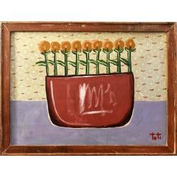 Painel Toti - Vaso com Flores - 2010000006184 - OFICINADEAGOSTO