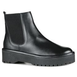 Chelsea Boots Fridda Elástico Lateral Preta Em Cou... - ORCADE