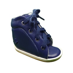 Outlet Dennis Brown sapatilha em couro azul marinh... - Orthocalce