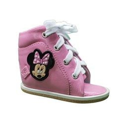 Outlet Dennis Brown Minnie sapatilha em couro rosa... - Orthocalce