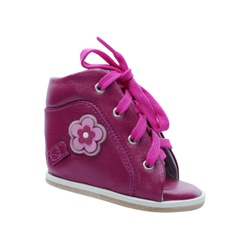 Outlet Dennis Brown sapatilha em couro rosa pink c... - Orthocalce