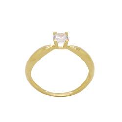 Anel Solitário Ouro 18k com Pedra - OV/AN163321-1 - Ouro Vale Joias