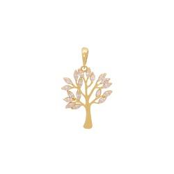 Pingente Árvore e Folhas em Ouro 18k - OV/P20307-1... - Ouro Vale Joias
