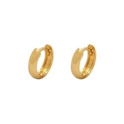 Brinco Argola Pequeno em Ouro 18k - OV/BR12340-1 - Ouro Vale Joias