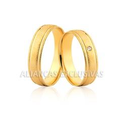 Alianças de Casamento Diamantadas em Ouro 18k - OV... - Ouro Vale Joias