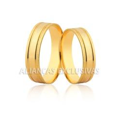 Aliança de Noivado e Casamento em Ouro 18k - OV/11... - Ouro Vale Joias