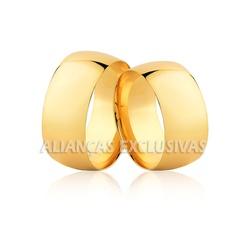 Aliança Grossa Tradicional em Ouro 18k - OV/139 - Ouro Vale Joias