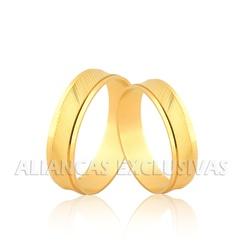 Alianças Diamantadas em Ouro 18k - OV/1145 - Ouro Vale Joias