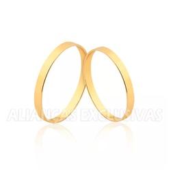 Aliança Fina Tradicional em Ouro 18k - OV/1502 - Ouro Vale Joias