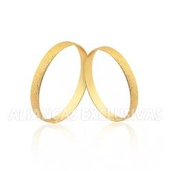 Par de Alianças Finas Diamantadas para Casamento -... - Ouro Vale Joias