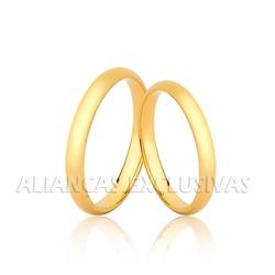 Par de Aliança Tradicional em Ouro 18k - OV/2001 - Ouro Vale Joias