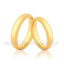 Par de Aliança Tradicional em Ouro 18k - OV/2003 - Ouro Vale Joias