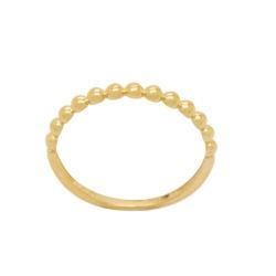 Anel de Bolinhas em Ouro 18k - OV/AN19693-12 - Ouro Vale Joias