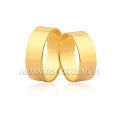 Aliança Reta de Casamento em Ouro 18k - OV/70 - Ouro Vale Joias