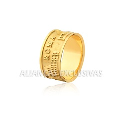 Anel Roma Antiga em Ouro 18k - OV/AN506 - Ouro Vale Joias