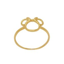 Anel Minnie em Ouro 18k - OV/AN19280-1 - Ouro Vale Joias