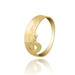 Anel Nome Personalizado com Pingente Coração Ouro ... - Ouro Vale Joias