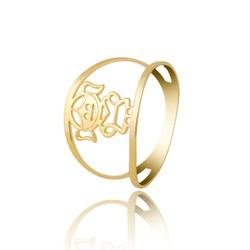 Anel Filha Personalizado Ouro 18k - OV/ANA20 - Ouro Vale Joias