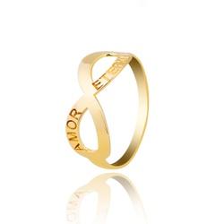 Anel Símbolo Infinito Ouro 18k - OV/ANA36 - Ouro Vale Joias