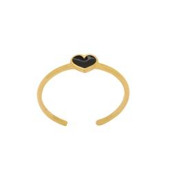 Anel de Coração Falange Ouro 18k - OV/AN19379-12 - Ouro Vale Joias