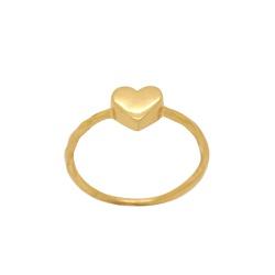 Anel Coração Falange em Ouro 18k - OV/AN19434-1 - Ouro Vale Joias