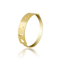 Anel Nome Personalizado Ouro 18k - OV/ANA12 - Ouro Vale Joias
