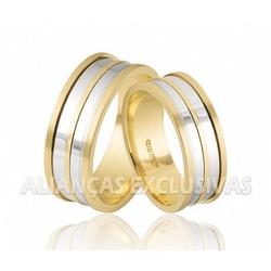 Alianças de Casamento Bodas em Ouro Amarelo e Ouro... - Ouro Vale Joias