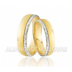 Alianças de Casamento em Ouro 18k Desenho de Ouro ... - Ouro Vale Joias