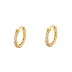 Brinco de Argola em Ouro 18k - OV/BR20251-1 - Ouro Vale Joias