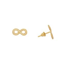 Brinco Infinito em Ouro 18k - OV/BR14534-2 - Ouro Vale Joias