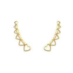 Brinco Ear Cuff em Ouro 18k - OV/BR16235-2 - Ouro Vale Joias