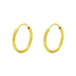 Brinco Argola Pequeno Ouro 18k - OV/BR7610-12 - Ouro Vale Joias