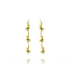 Brinco com Diamantes em Ouro 18k - OV/BR527-2 - Ouro Vale Joias