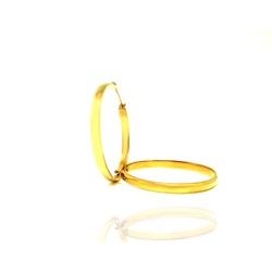 Brinco Argola em Ouro 18k - OV/BR722-1 - Ouro Vale Joias