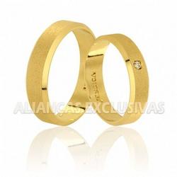 Alianças Diamantadas de Noivado e Casamento em Our... - Ouro Vale Joias